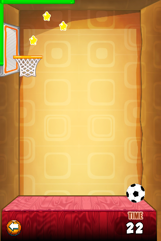 wall free throw soccer game screenshot 1