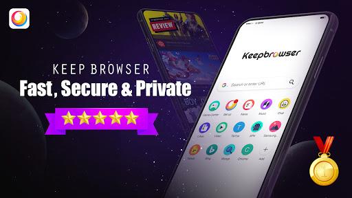 KeepBrowser: Fast & private, HD video downloader Apk 1.5.0 screenshots 1