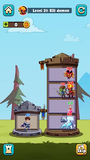 Hero Tower Wars - Math Puzzle  screenshots 5