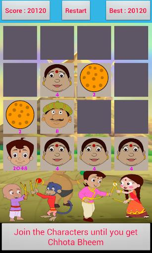 chhota bheem 2048 game screenshot 1