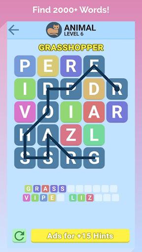 word swipe game - search games puzzle: word stacks screenshot 1