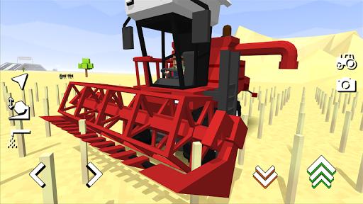 Blocky Farm Racing & Simulator - free driving game 1.36 screenshots 1