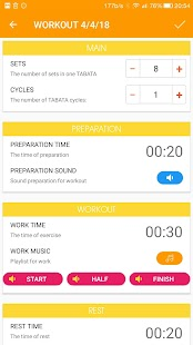 Tabata timer for workout with music Screenshot