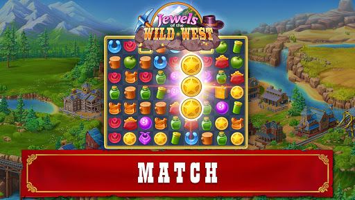 Jewels of the Wild Westu30fbMatch 3 Gems. Puzzle game apktram screenshots 15