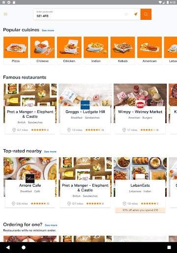 Just Eat UK - Takeaway Delivery  screenshots 10
