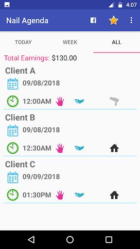 Nail Organizer - Calendar for Manicures 1.9.2 Screenshots 7
