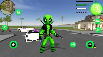 Green Pool Stickman Rope Hero Gangstar Crime