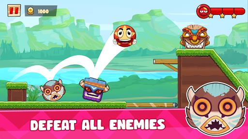 Ball's Journey 6 - Red Bounce Ball Heroes screenshots 2