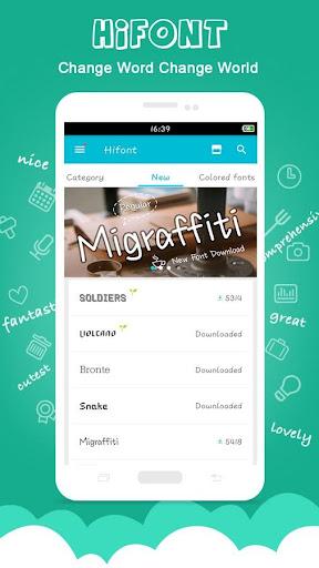 HiFont - Cool Fonts Text Free + Galaxy FlipFont 8.4.4 screenshots 1