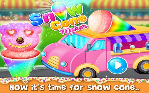 snow cone maker - yummy slushy summer food screenshot 1