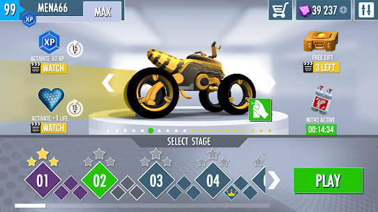 Gravity Rider Zero MOD APK (Unlimited Gems) 5