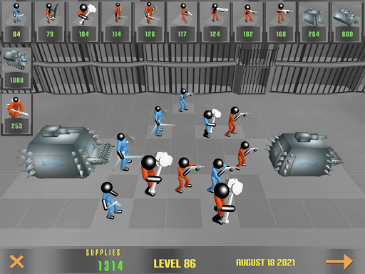 Stickman Prison Battle Simulator: Zombies screenshots 16