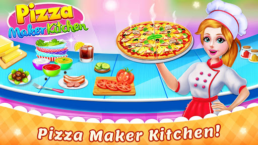 Cooking Pizza Maker Kitchen Food Cooking Games screenshots 1