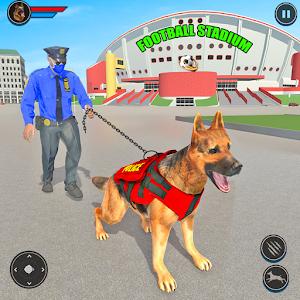 Police Dog Football Stadium Crime Chase Game