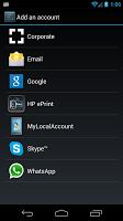 screenshot of MyLocalAccount