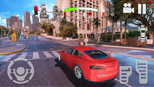Electric Car Simulator 2021: City Driving Model X 1.6 screenshots 7