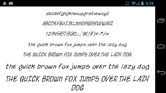 Fonts for FlipFont 50 Written Screenshot