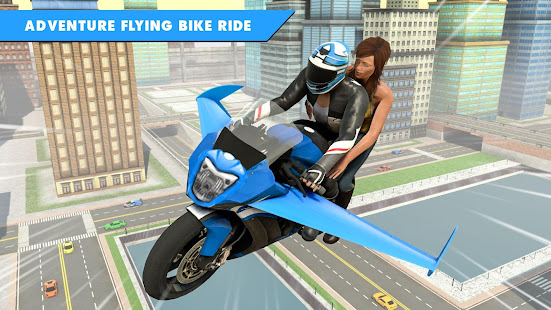 Flying Bike Stunt Racing- Impossible Stunt Games 2.1 Screenshots 3