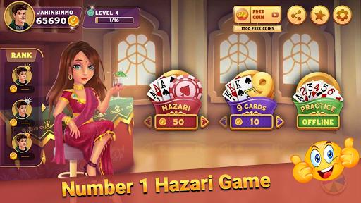 Hazari Gold- (1000 Points Game) & 9 Cards offline 4.07 screenshots 1