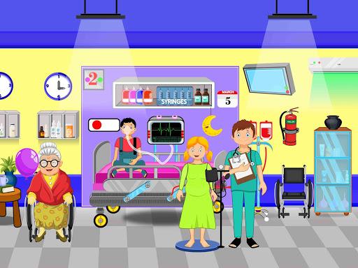 Télécharger Faire semblant à l'hôpital de la ville: jeu de la apk mod screenshots 5