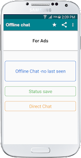 Offline Chat -no last seen, blue tick for WhatsApp Screenshot