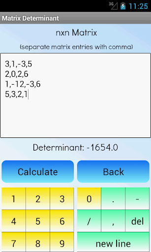Matrix Determinant Calculator ss3