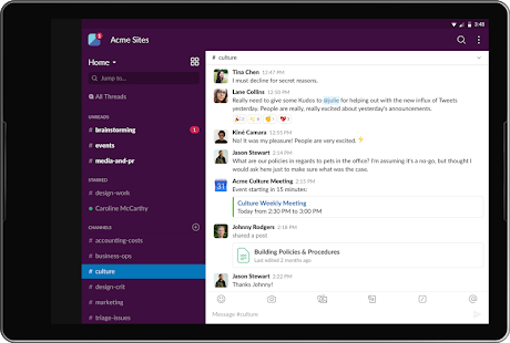 Slack Screenshot