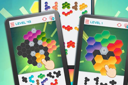 hexagon graph: geometry puzzle screenshot 1