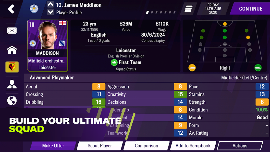 Football Manager 2021 Mobile Android App Screenshot