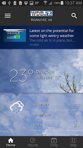WDBJ7 Weather & Traffic modiapk screenshots 1