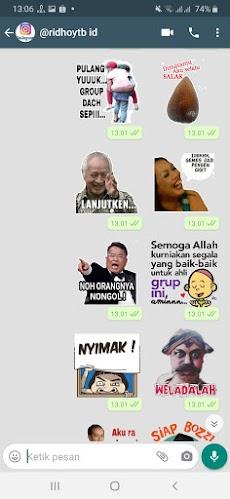 Kumpulan Stiker WA Kocak WAStickerAppsのおすすめ画像1