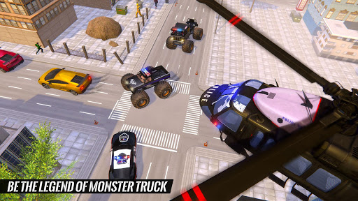 US Police Monster Truck Gangster Car Chase Games  screenshots 3