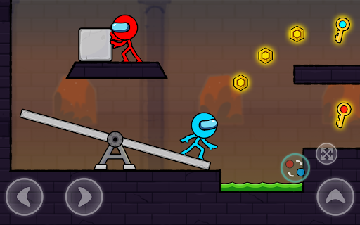 Red and Blue Stickman : Season 2 android2mod screenshots 18