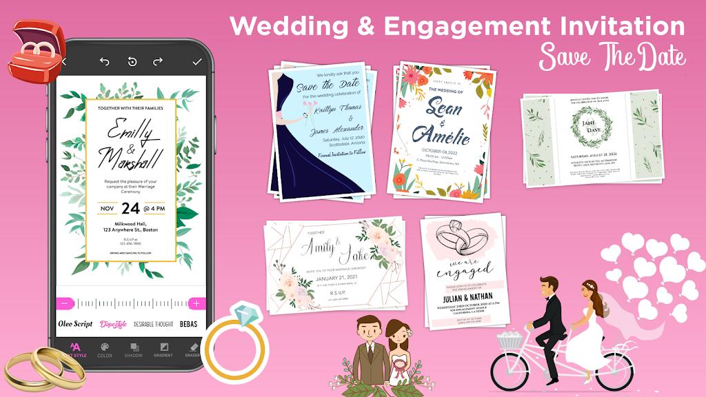 Invitation Maker Free - Birthday & Wedding Card  poster 3