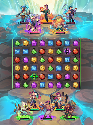 Puzzle Brawl - Match 3 RPG & PvP Battle Tactics apkpoly screenshots 11