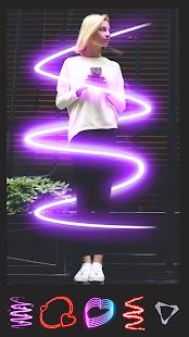 Instasquare Photo Editor: Drip Art, Neon Line Art Image 4