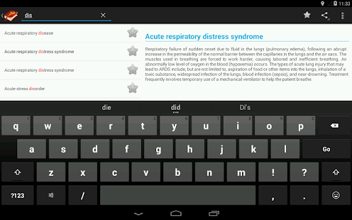 Medical Terminology Dictionary:Search&Vocabulary Screenshot