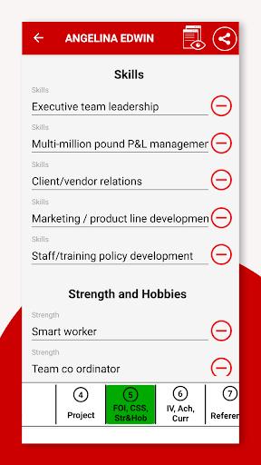 Resume Builder App Free CV Maker & PDF Templates 7.5 Screenshots 18