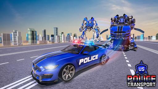 US Police Robot Transform - Police Plane Transport  screenshots 6