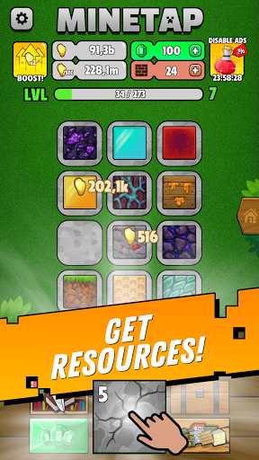 Minetap: Epic Clicker! Tap Crafting & mine heroes  screenshots 11