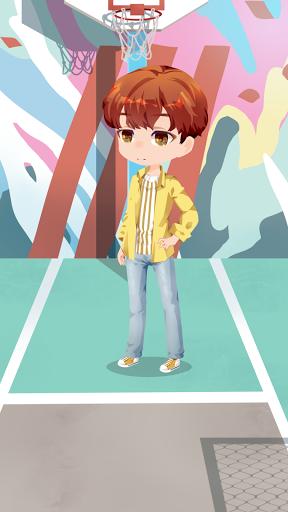 BTS Chibi Dress-up Game!!! u2605Dress the starsu2605 Apkfinish screenshots 4
