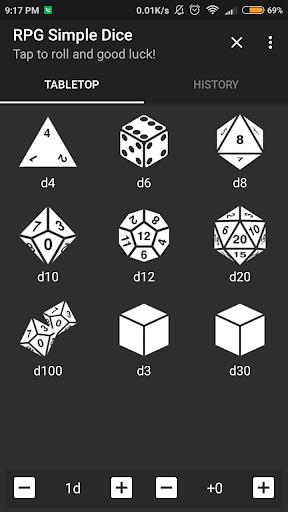 RPG Simple Dice  screenshots 1