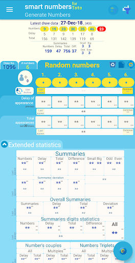 smart numbers for toto(singapore) screenshot 1