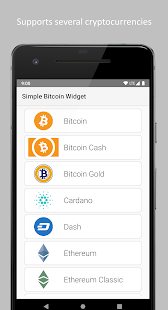 Simple Bitcoin Widget Screenshot