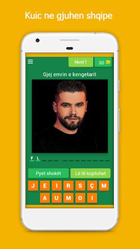 Gjej kengetarin shqiptar | Loje kuic ne shqip  screenshots 1