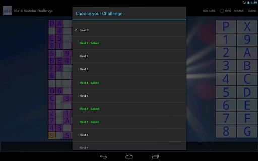 16x16 Sudoku Challenge HD 3.8.5 screenshots 7
