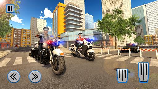 Police Moto Bike Chase Crime Shooting Games apktram screenshots 15