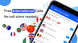 screenshot of Free phone calls, free texting SMS on free number
