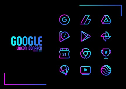 Lineon Icon Pack Pro Apk: LineX 2.8 (Patched) 2