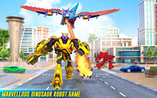 Flying Dino Transform Robot: Dinosaur Robot Games screenshots 8